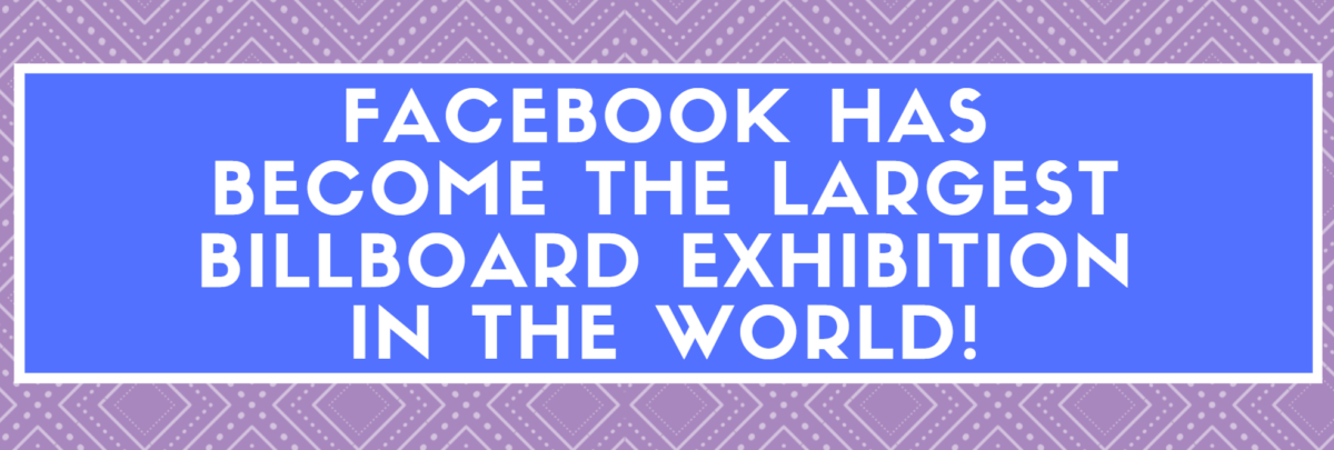 Facebook the largest billboard exhibition in the world