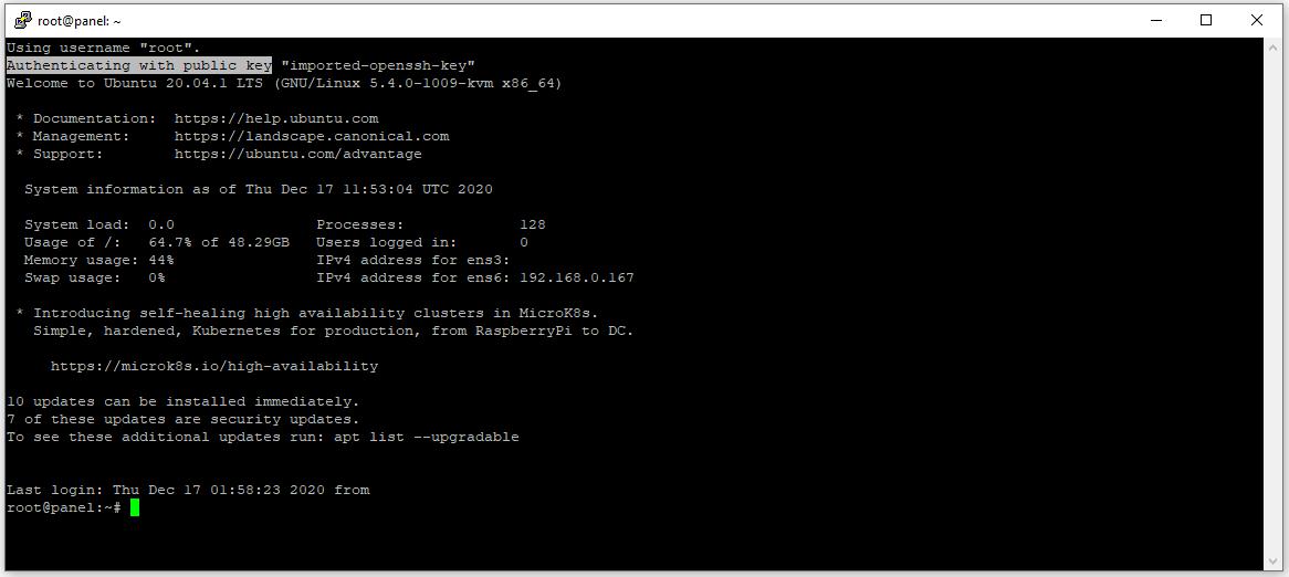 ssh-putty-server public-key-security