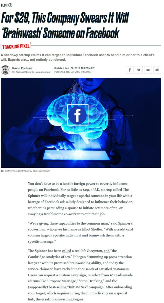 Facebook brainwash people with targeted-ads